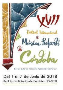 Cartel del XVII Festival de Música Sefardí de Córdoba