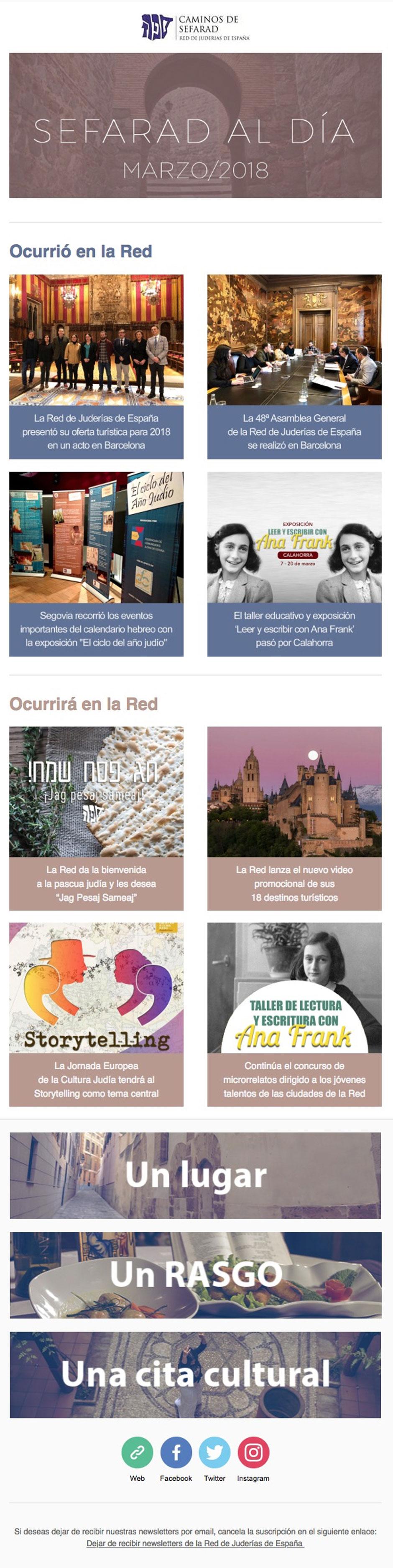 newsletter sefarad al día | Red de Juderías de España - Caminos de Sefarad