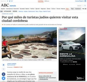 Reportaje sobre la judería de Lucena en ABC   Red de Juderías de España - Caminos de Sefarad