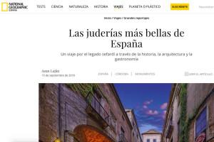 Difusión en medios de comunicación de la Red de Juderías de España