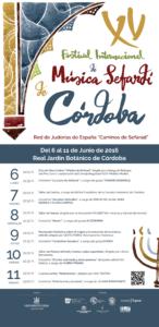 Programa Festival de Música Sefardí de Córdoba 2016