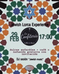 El 29 de febrero tendrá lugar la primera sesión de Jewish Lorca Experiences, una actividad que fusiona la gastronomía y música.