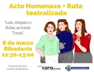 El 8 de marzo, con motivo del Día Internacional de la Mujer, el Concello de Ribadaviaorganiza un acto de homenaje a las Hermanas Touzá   Red de Juderías de España