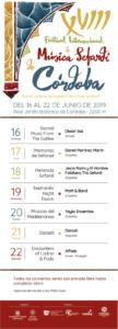 Programa del XVIII Festival Internacional de Música Sefardí de Córdoba 2019