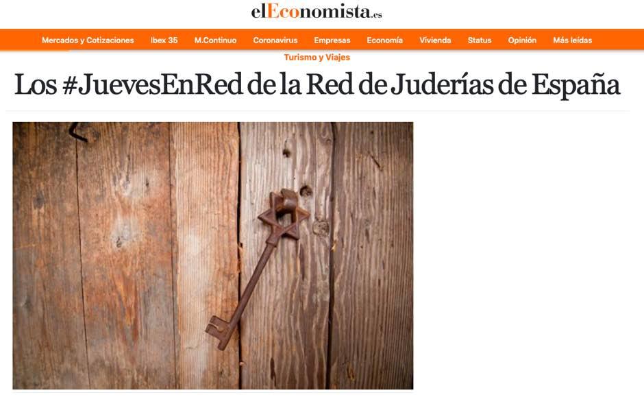 El ciclo de charlas online de la Red de Juderías de España merece la atención de numerosos medios de comunicación.