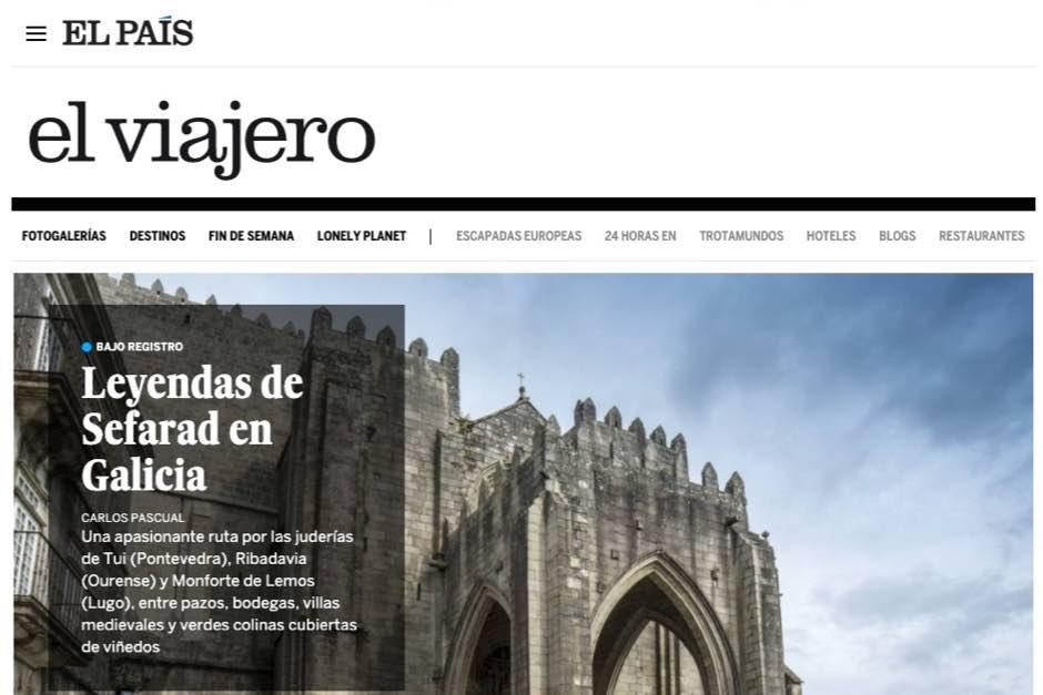 El periodista Carlos Pascual firma el reportaje, que recoge un viaje por las tres ciudades gallegas de la Red de Juderías.