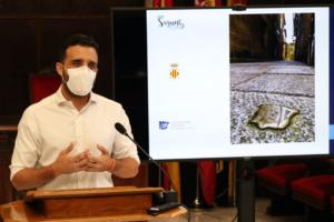 El Portalet de la Sang fue el lugar elegido para la colocación de la primera de las seis placas distintivas de la Red de Juderías de España.