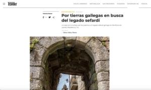 Las juderías gallegas de la Red de Juderías, en los medios de comunicación más prestigiosos de España