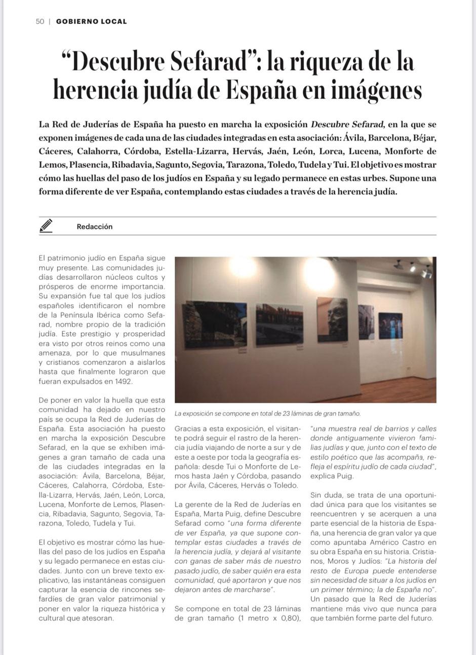 «Carta Local» dedica un reportaje a la Red de Juderías