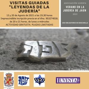 Los días 13 y 20 de agosto tendrán lugar en Jaén las visitas guiadas «Leyendas de la Juderia». Red de Juderías de España Caminos de Sefarad